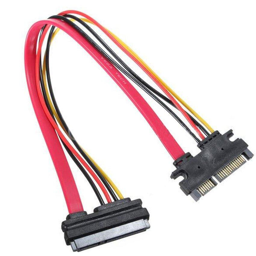 22 Pin Male to Female 7+15 pin SATA Data Power Combo Extension Cable 45CM