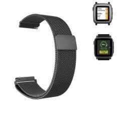 22 มิลลิเมตรสายนาฬิกา Milanese สร้อยข้อมือสแตนเลสสตีลนาฬิกาสายคล้องคอแม่เหล็กสำหรับ Pebble เวลา/Pebble เวลา 2/Pebble เวลาเหล็ก - นานาชาติ