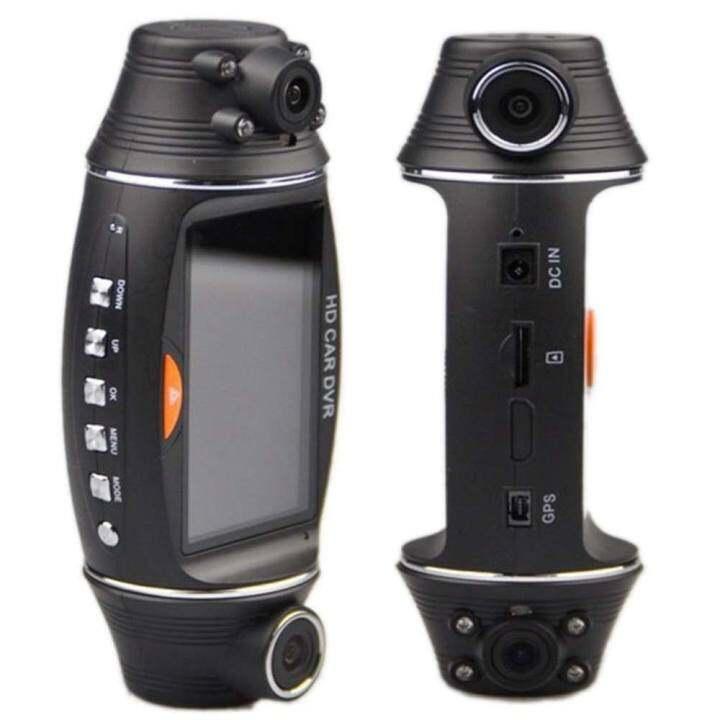 2.7 นิ้ว HD 1080 จุดรถ DVR 140 ° กว้างมุม SDual เลนส์บนแผงหน้ารถ GPS กล้องบันทึก - INTL