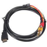 ราคา 2Pcs Hdmi Male To 3 Rca Video Audio Converter Component Av Adapter Cable Hdtv 1 5M Intl ใหม่ ถูก
