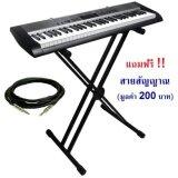 ราคา ขาตั้งคีย์บอร์ด ทรง2X Stand Keyboard Piano รุ่น Ov 25Xx Bk สีดำ แถมฟรี สายแจค อย่างดีมูลค่า 250 บาท ทันที ออนไลน์