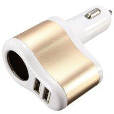 ขาย ซื้อ 3 1A Dual 2 Usb Ports One Way Car Cigarette Lighter Power Socket Charger Adapter Thailand