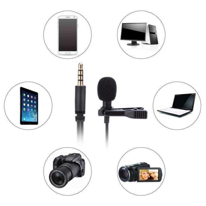 รีวิว 3.5mm Jack Mini Wired Clip-on Lapel Hands Free Headset Microphone Mic –