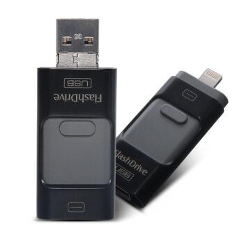 3 ใน 1 128 กิกะไบต์โลหะ USB แฟลชไดรฟ์ U ดิสก์หน่วยความจำแท่ง (สีดำ)