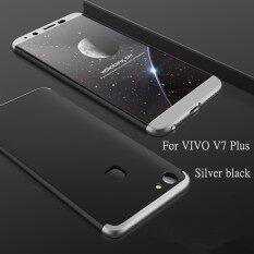 ซื้อ 3 ใน 1 คู่ Dip 360 ° แบบเต็มรูปแบบป้องกันบางพลาสติกแข็ง พีซีเคสโทรศัพท์ ป้องกันการตกโทรศัพท์ปกคลุม กันกระแทก โทรศัพท์ผู้คุ้มครองสำหรับ Vivo V7 บวก นานาชาติ ถูก ใน จีน