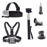 ขาย 3 In 1 Universal Waterproof Action Camera Accessories Bundle Kit Head Strap Mount Chest Harness Selfie Stick For Sports Action Camera Intl ใหม่