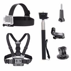 ขาย 3 In 1 Universal Waterproof Action Camera Accessories Bundle Kit Head Strap Mount Chest Harness Selfie Stick For Sports Action Camera Intl ใน จีน