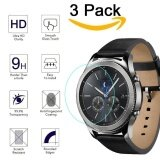 ขาย ซื้อ 3 Packs 9H Hardness Tempered Glass Screen Protector For Gear S3 Ultra High Definition Crystal Clear Scratch Resist No Bubble Waterproof Intl จีน