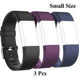 โปรโมชั่น 3 Pcs Sports Silicone Bracelet Strap Band Small Size 5 1 7 6 130Mm 193Mm For Fitbit Charge 2 Smart Watch Intl