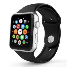 ส่วนลด สินค้า 3ชิ้นดนตรีกีฬาแทนซิลิโคนอ่อนนุ่มสำหรับ Apple Watch รุ่น 42มม สีดำ มีสำหรับ 2 รอบ
