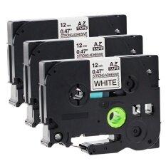 ราคา 3 Roll Tzes231 Laminated Extra Strength Adhesive Label Tapes Compatible For Brother P Touch Tze Tzs231 Cartridge Maker Black On White 12Mm X 8M Intl ใหม่ ถูก