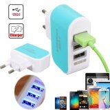 3 Usb Ports Charger Usb Wireless Usb Adapter 3 1A Blue Eu Plug Intl เป็นต้นฉบับ