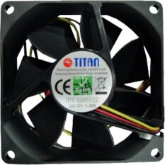 """พัดลม 3.0"""" DC12V 0.28A TFD-8025HH12S TITAN"""