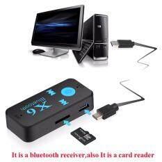 ขาย บลูทูธมิวสิครับสัญญาณเสียง 3 5Mm 3 In 1 Car Bluetooth X6 Music Receiver Adapter 3 5Mm Jack Wireless Handsfree Car Kit With Tf Card Reader Function Mp3 Mp4 Bluetooth Handfree Car Kit ถูก