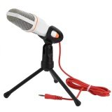 ซื้อ 3 5Mm Stereo Studio Computer Condenser Microphone Mic W Tripod For Skype Msn Pc Laptop White Intl ถูก จีน
