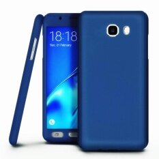 โปรโมชั่น 360 Degree Full Body Hard Pc Protective Back Case With Tempered Glass For Samsung Galaxy A7 2016 A710 Blue Intl