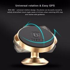 ซื้อ 360 Degree Rotate Universal Magnetic Car Mobile Phone Holder Stand For Iphone 5S 6 7 Samsung S5 S6 S7 Metal Mount Intl ถูก