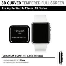 ขาย กระจก กันรอย 3D แบบบาง ใส่เคสไม่ดัน Apple Watch 42 Mm ทุกซีรีย์ 9H Tempered Glass Slim 3D Not Full Screen Protector For Apple Watch 42Mm กรุงเทพมหานคร ถูก
