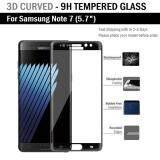 ส่วนลด ฟิล์มกันรอย 3D กระจก นิรภัย เต็มจอ เก็บขอบแนบสนิท For Samsung Note 7 สีดำ 5 7 Premium Tempered Glass 9H 3D Black