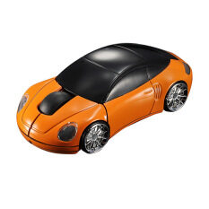 3D Wireless Optical 2 4G Car Shaped Mouse Mice 1600Dpi Usb For Pc Laptop Orange เป็นต้นฉบับ