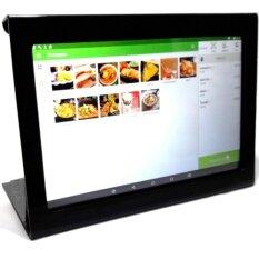 "3G Tablet 10.1"" Loyverse POS พร้อมเคสขาตั้งอะคริลิคสีดำ"