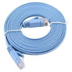 ทบทวน ที่สุด 3Meters Rj45 Cat6 Ethernet Network Flat Lan Cable Utp Patch Router Cables 1000M Intl