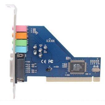 4.0 ช่องล้อมรอบ 3D PCI ซาวด์การ์ดเสียงสำหรับคอมพิวเตอร์เดสก์ท็อป