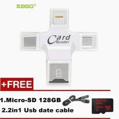 ซื้อ 4 In 1 Card Reader Micro Sd Card Reader For Iphone 7 6 Plus 5 Se For Ipad For Android 128Gb Memory Card Intl จีน