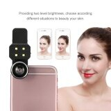 4 In 1 Clip On Fisheye Wide Angle Micro Lens Selfie Fill Light Led For Smartphone Black Intl ใน จีน