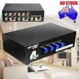 ราคา 4 In 1 Out เสียงวิดีโอคอมโพสิต Rca Av Switch Switcher เลือกกล่องทีวี Splitter ออนไลน์ จีน