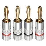 ราคา 4 Pcs 4Mm 24K Gold Plated Musical Speaker Cable Wire Banana Plug Connector B1 Intl Unbranded Generic ใหม่