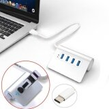 ซื้อ 4 Ports Usb 3 1 Type C To Usb 3 Hub Portable Aluminum For New Macbook Intl ใหม่