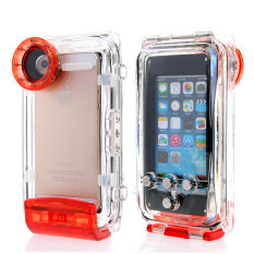 ซื้อ 40M 130Ft Moonmini Professional Diving Protective Case Cover For Apple Iphone Se 5S 5 Red ถูก ใน จีน