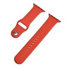 ราคา 42 มิลลิเมตรเอ็ม แอล 1 1 สายคล้องข้อมือซิลิโคนขนาดสายนาฬิกาสายนาฬิกาเดิมสำหรับนาฬิกาแอปเปิ้ล ใหญ่สีแดง นานาชาติ Unbranded Generic ออนไลน์