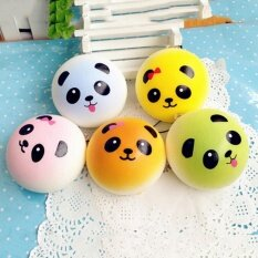 ... Food Keychain (random style). THB 85. 4CM Cute Colorful Panda Squishy Soft Buns Bread Key Chain Phone Straps ...