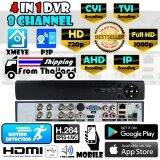 ราคา 4In1 Hd 8Ch Dvr เครื่องบันทึกภาพ สำหรับ กล้องวงจรปิด Ahd Tvi Cvi Ip Kit Set Digital Video Recorder ฟรีอะแดปเตอร์ เป็นต้นฉบับ Dvr