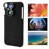 โปรโมชั่น 4In1 Wide Angle Macro Fisheye Cpl Camera Lens Kit Black Case Cleaning Cloth For Iphone7 Plus Unbranded Generic