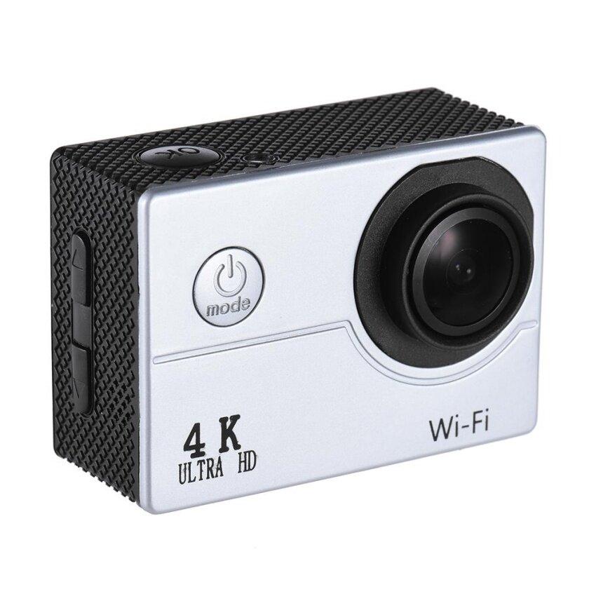 ซื้อ 4K 30Fps 16Mp Wifi Action Sports Camera 1080P 60Fps Full Hd 4X Digital Zoom Diving 40M 170� Wide Angle Lens 2 Lcd Support Slow Motion Drama Photography Silver Intl ถูก ฮ่องกง