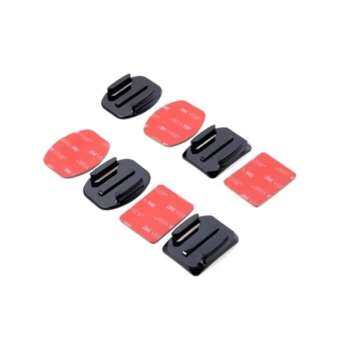 Di shop 4pcs Flat Mounts&Curved Mounts + 3M Adhesive Pads Set for Gopro Hero 3 3+ 4