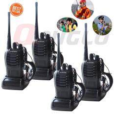 4Piece วิทยุสื่อสาร BaoFeng BF-888S Walkie-Talkies Two Way Radio+Free Headphones(สีดำ)