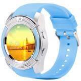 ซื้อ 4Sshop นาฬิกาSmart Watch รุ่น V8 สีฟ้า รองรับการใส่ซิม Mirco Sdมีเมนูภาษาไทย ถูก