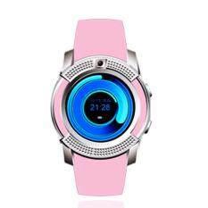 4sshop-นาฬิกาSmart Watch รุ่น V8(สีชมพู) รองรับการใส่ซิม mirco SDมีเมนูภาษาไทย