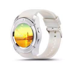 ขาย ซื้อ 4Sshop นาฬิกาSmart Watch รุ่น V8 สีขาว รองรับการใส่ซิม Mirco Sdมีเมนูภาษาไทย กรุงเทพมหานคร