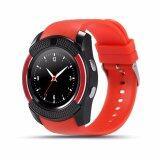 ราคา 4Sshop นาฬิกาSmart Watch รุ่น V8 สีเเดง รองรับการใส่ซิม Mirco Sdมีเมนูภาษาไทย เป็นต้นฉบับ