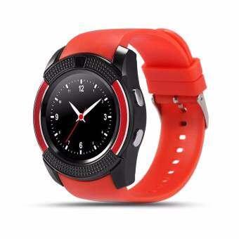 ซื้อที่ไหน 4sshop-นาฬิกาSmart Watch รุ่น V8(สีเเดง) รองรับการ