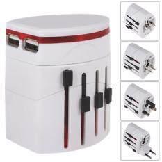 4sshop-ปลั๊กไฟทั่วโลกพร้อม USB เสียบชาร์ตแบตมือถือ/ไอแพด ใช้ได้ทั่วโลก US/UK/EU/AU รองรับกระแสไฟฟ้า 100-250 โวลต์