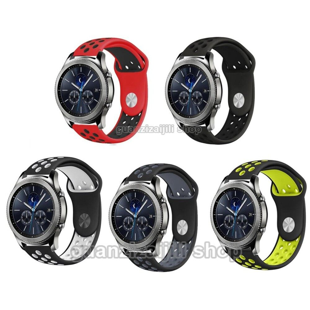 การเปรียบเทียบราคา 5 Pack Sport Soft Silicone Band Strap for Gear S3 SM-R770 S3 Frontier SM-R760 SM-R765 Smart Watch - intl ซื้อ