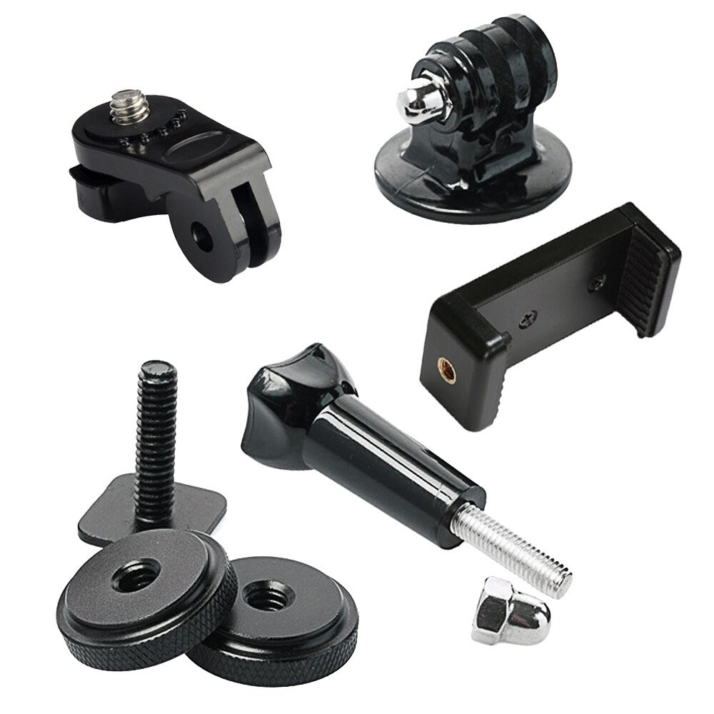 5 PCS Hot Shoe Mount Adapter Kit Includes Hot Shoe Mount Adapter Mount Universal Phone Holder Thumbscrew for Attaching Phone or GoPro Hero on DSLR – intl