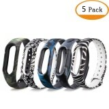 ขาย 5 Pcs Silicone Watch Band Strap Wrist For Mi Band 2 Miband 2 Intl ออนไลน์ จีน