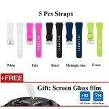 ราคา 5 Pcs Sports Silicone Bracelet Strap Band For Samsung Gear S3 Classic S3 Frontier Intl Unbranded Generic จีน